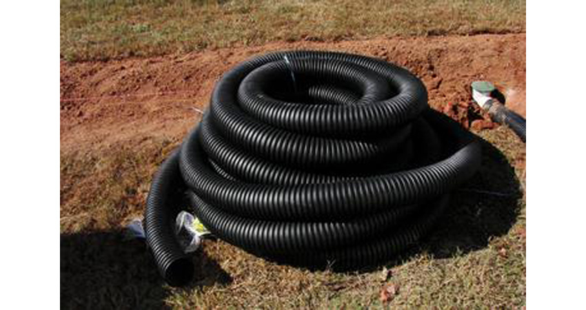 Corrugated Drain Pipe for use in a French Drain