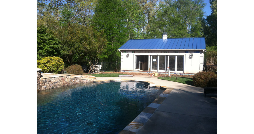 South Park Pool House Outdoor Living