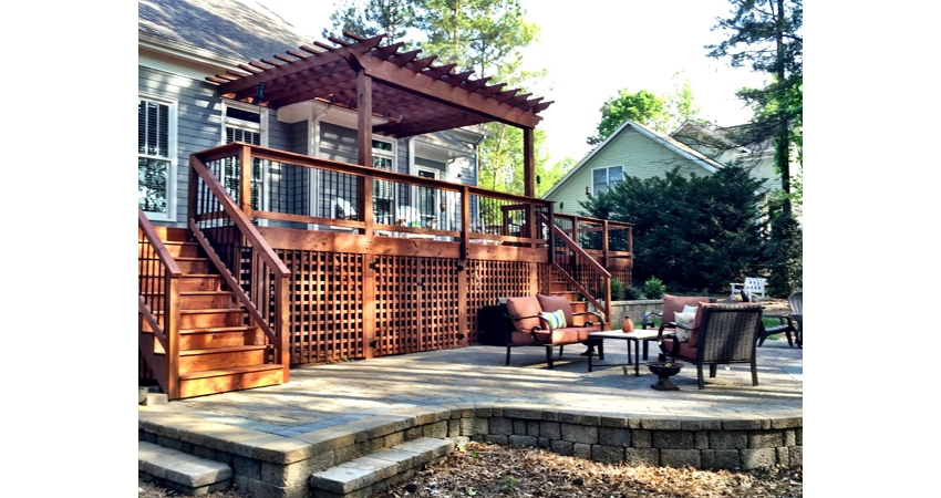 Lake Wylie Patio and Deck after completion