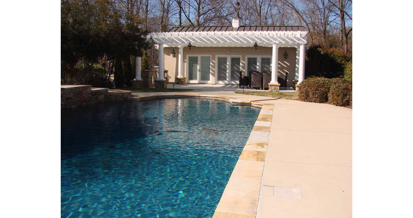 South Park Pool House Outdoor Living After