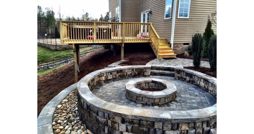 Hillside Oasis After Landscaping by Benton Outdoor Living