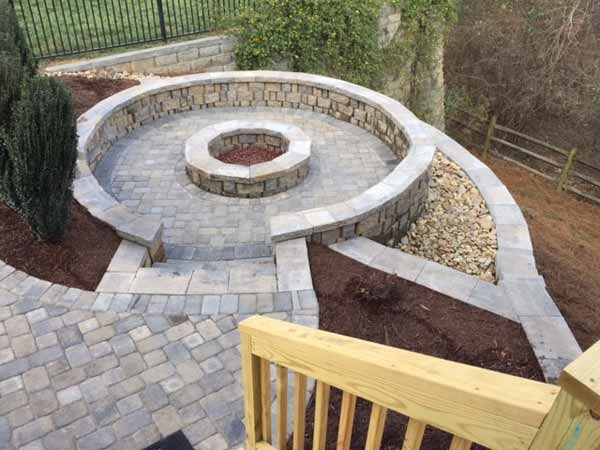 Fire Pit After Benton Outdoor Living