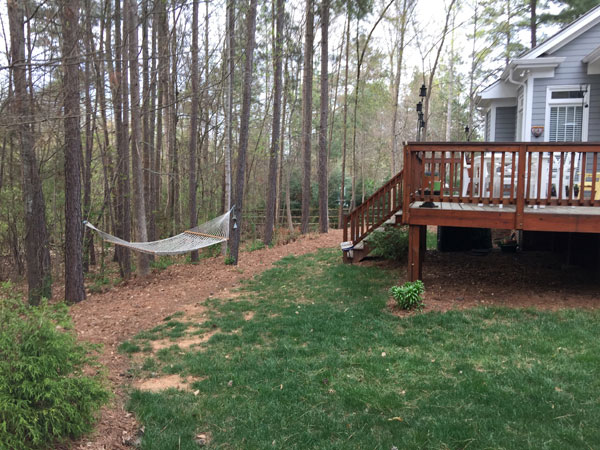 Lake Wylie Backyard before transformation