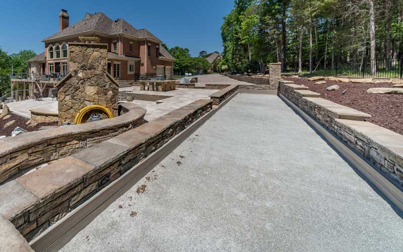 Bocce Court installed by Benton Outdoor Living in a Charlotte Area Home