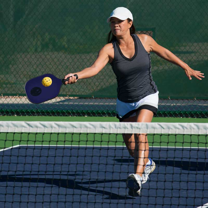 Pickleball courts are becoming popular for outdoor recreation