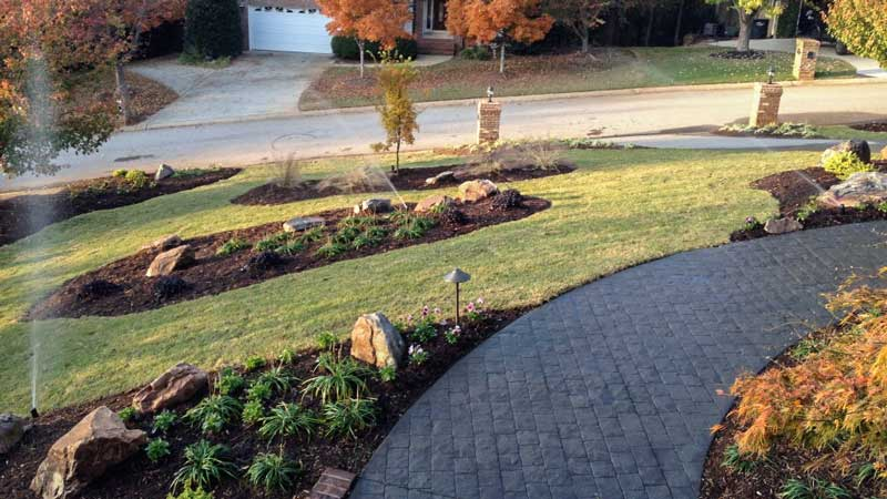 Irrigation system installed in Charlotte by Benton Outdoor Living