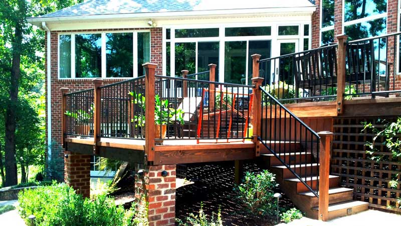 Deck built by Benton Outdoor Living for House in Charlotte, NC
