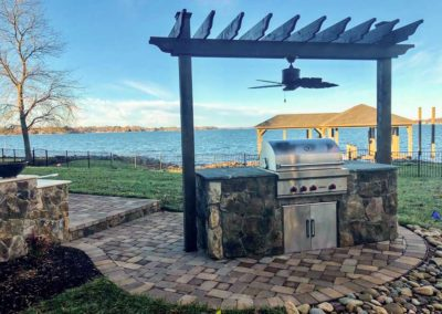 Grill with Lake View