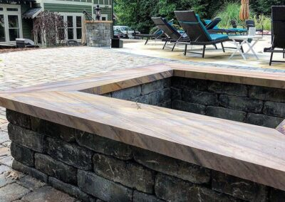 Fort Mill backyard with Paver Patio and Fire Pit installed by Benton Outdoor Living