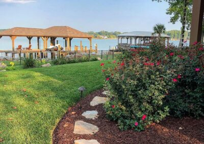 Lake Norman Landscape backyard