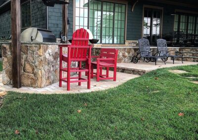 Lake Norman Backyard with grill island and patio by Benton Outdoor Living
