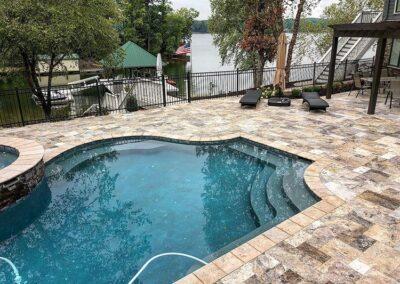 Tega Cay paver pool deck