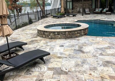 Tega Cay Pool Deck from Paver Patios by Benton Outdoor Living