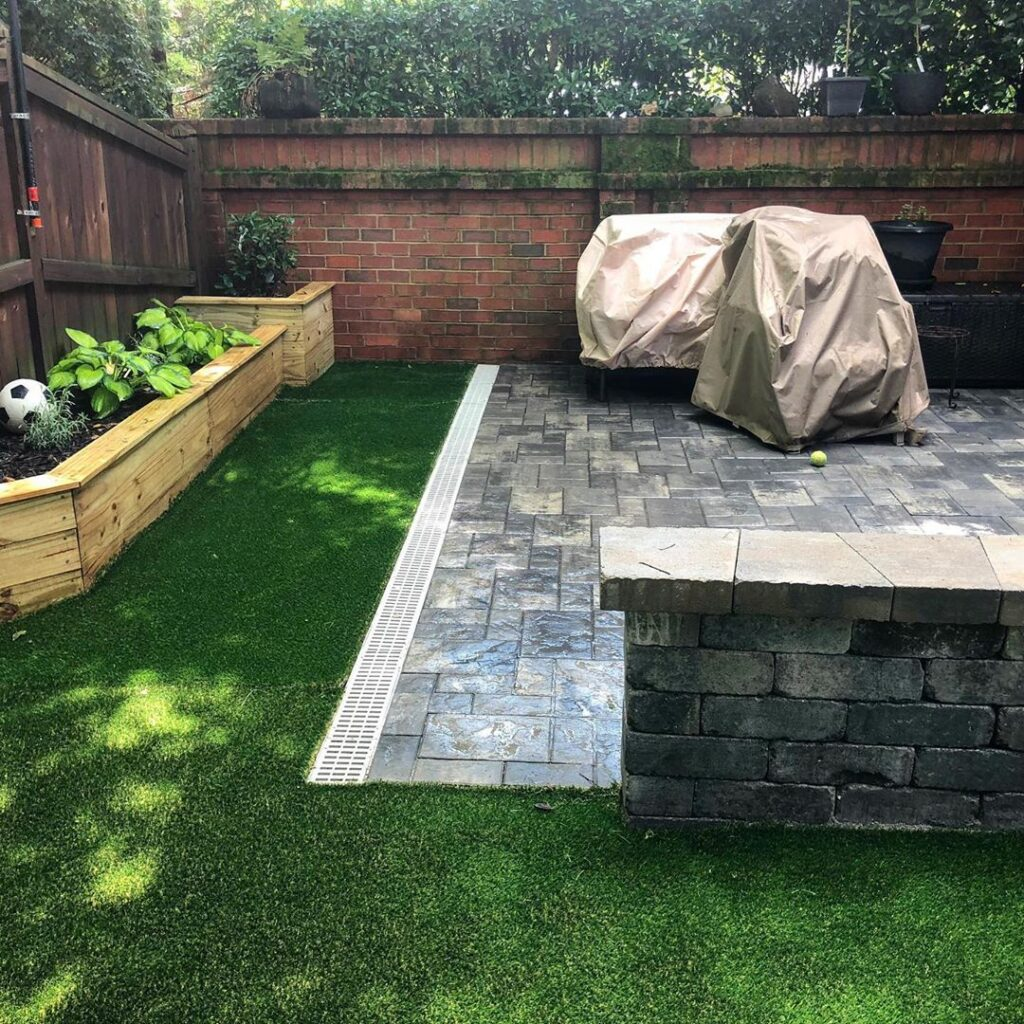 Charlotte small backyard with no grass